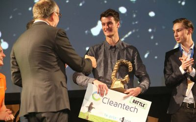 Student Pim Duterloo wint Cleantech Battle 2017!